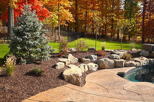 Photo of landscaping project